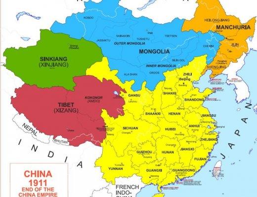1911 оны Монгол улсын газрын зураг