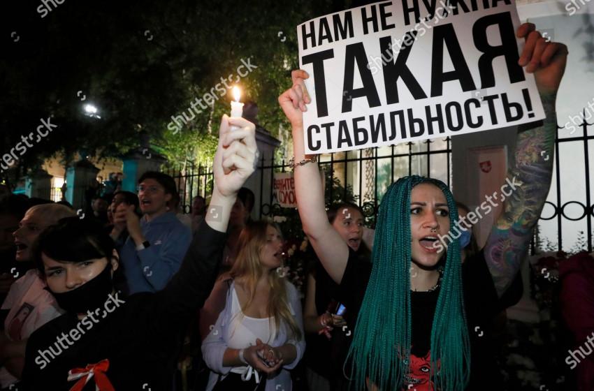 Москва хотод амьдардаг Беларусь иргэд эсэргүүцэл илэрхийлэв