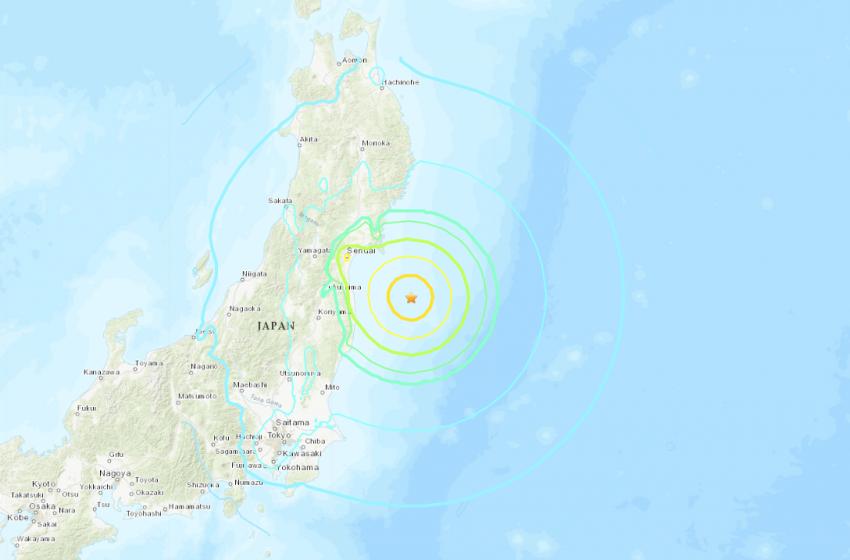 Япон улсын Фукушима мужийн ойролцоо 7.1 баллын хүчтэй газар хөдлөлтөд болов